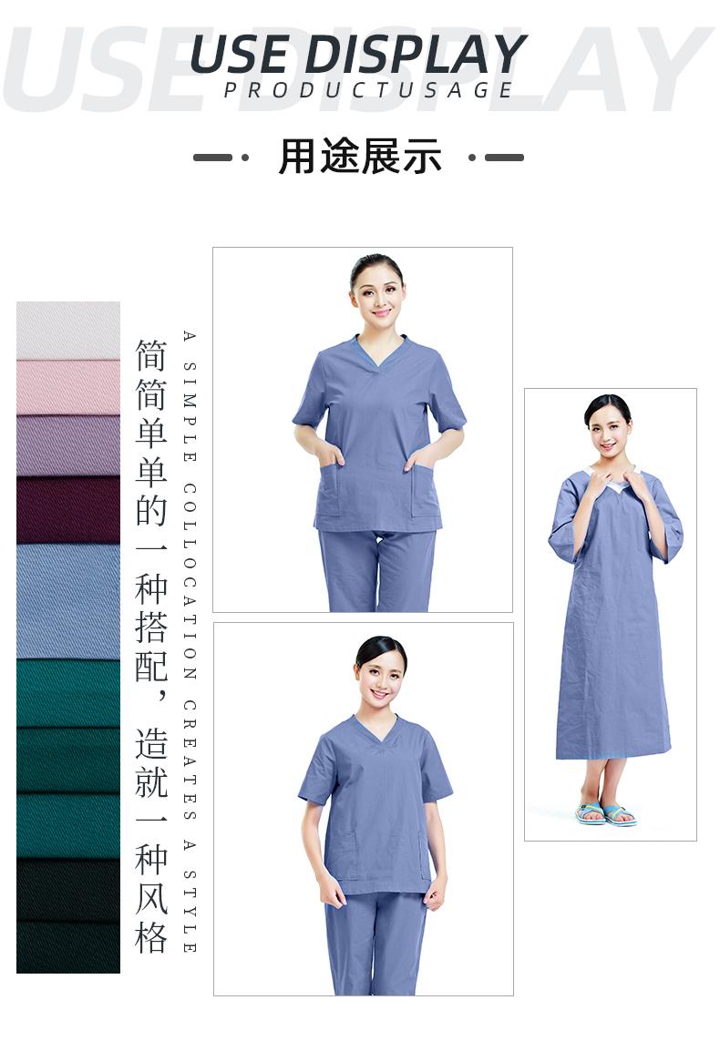 纯棉医护面料手术服医用面料#蓝色