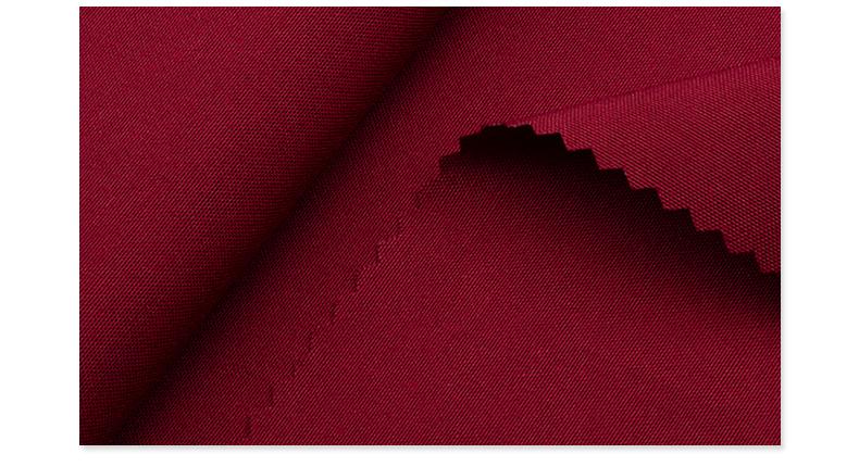 精密纺吸湿排汗医护面料#枣红色