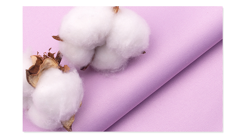 精密纺双面卡医护面料#紫荷粉