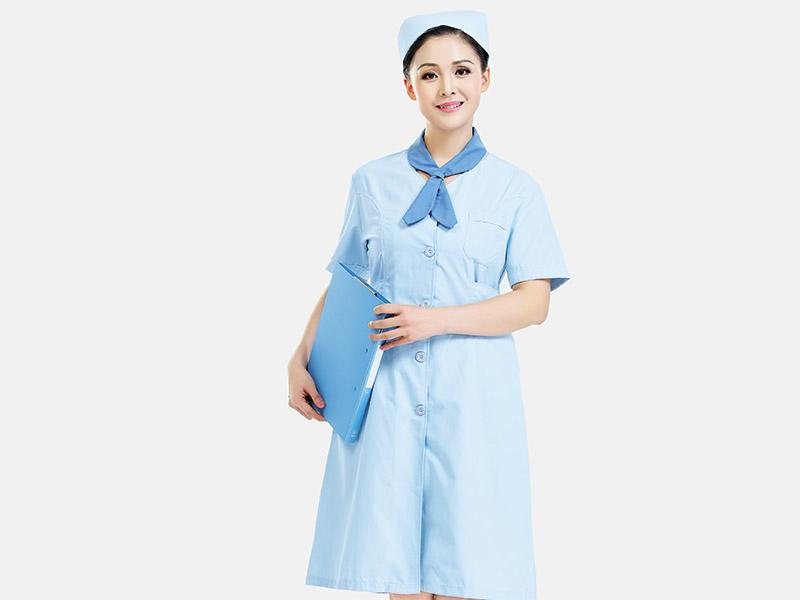 荣牌纺织护士工作服采用品质面料