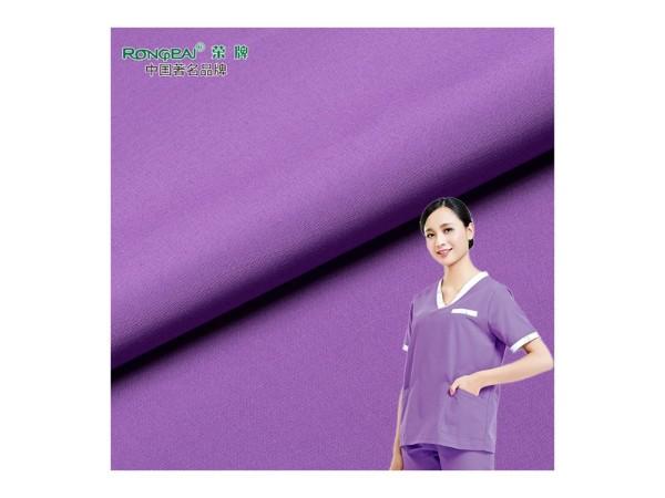 313D#紫罗兰 永久性吸湿排汗新材料医护服面料